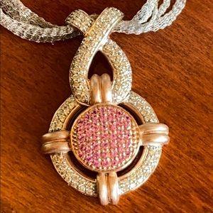 """💗""""14k ROSE GOLD & PINK DIAMOND NECKLACE""""💗"""